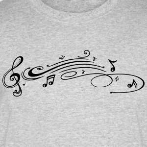 Clef with music notes, modern Tribal Tattoo Style. - Men's 50/50 T-Shirt