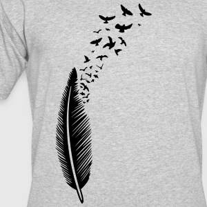 Feather with birds - Men's 50/50 T-Shirt