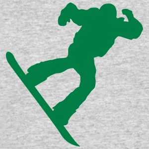 snow boarder silhouette 3 - Men's 50/50 T-Shirt