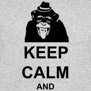 KEEP CALM MONKEY CUSTOM TEXT - Men's 50/50 T-Shirt