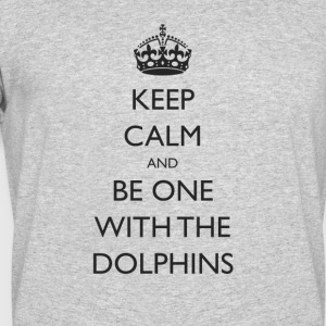 Keep Calm and Be One With The Dolphins Swim Tshirt - Men's 50/50 T-Shirt