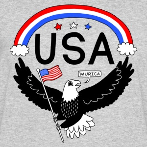 FOURTH OF JULY EAGLE, 'MURICA, 'MERICA - Men's 50/50 T-Shirt