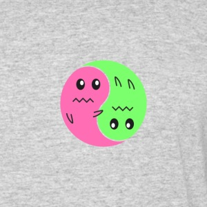 Ying And Yang Ghosts - Men's 50/50 T-Shirt
