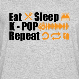 Eat Sleep K-Pop Repeat Tee Shirt - Men's 50/50 T-Shirt