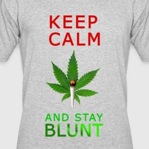 Keep Calm Stay Blunt - Men's 50/50 T-Shirt