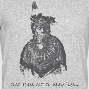 Vintage Native American (Don't Feed Em) - Men's 50/50 T-Shirt