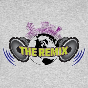 THE REMIX 2D LOGO WITH CITYSCAPE - Men's 50/50 T-Shirt