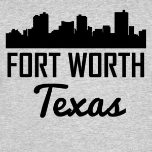 Fort Worth Texas Skyline - Men's 50/50 T-Shirt