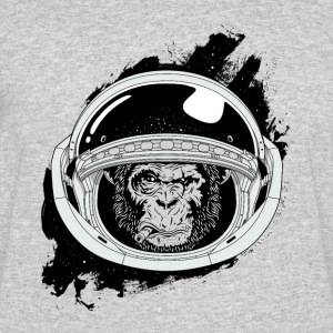 Space monkey Black and white Art - Men's 50/50 T-Shirt