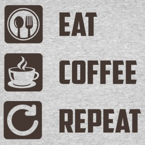 Eat Coffee Repeat - Men's 50/50 T-Shirt