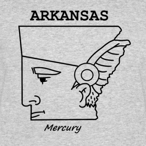 A funny map of Arkansas - Men's 50/50 T-Shirt