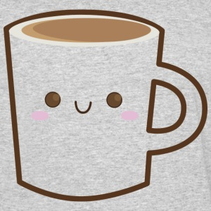 coffee mug with cute face - Men's 50/50 T-Shirt