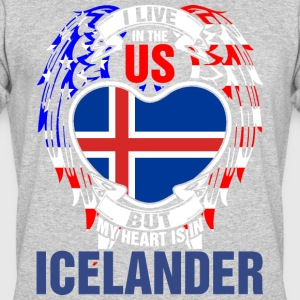 I Live In The Us But My Heart Is In Icelander - Men's 50/50 T-Shirt
