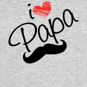 I Love Papa T Shirt - Men's 50/50 T-Shirt