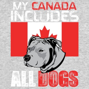 My Canada includes all dogs - Men's 50/50 T-Shirt
