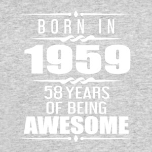 Born in 1959 58 Years of Being Awesome - Men's 50/50 T-Shirt