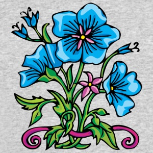 3_big_blue_flowers - Men's 50/50 T-Shirt
