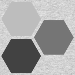 Hexagons - Men's 50/50 T-Shirt