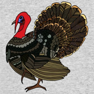 turkey bird wildlife illustration art - Men's 50/50 T-Shirt
