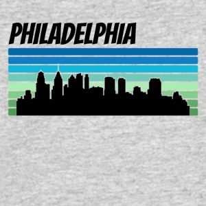 Retro Philadelphia Skyline - Men's 50/50 T-Shirt