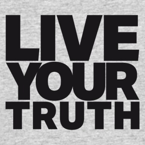 LIVE YOUR TRUTH - Men's 50/50 T-Shirt