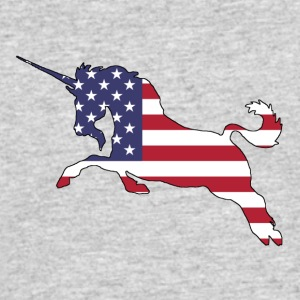 American Flag - Unicorn - Men's 50/50 T-Shirt