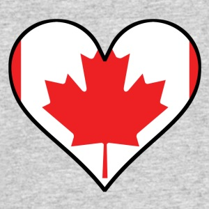 Canadian Flag Heart - Men's 50/50 T-Shirt
