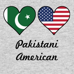 Pakistani American Flag Hearts - Men's 50/50 T-Shirt