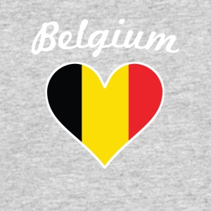 Belgium Flag Heart - Men's 50/50 T-Shirt