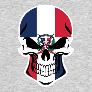 Dominican Flag Skull - Men's 50/50 T-Shirt