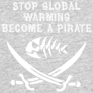 stop global warming and become a pirate white - Men's 50/50 T-Shirt