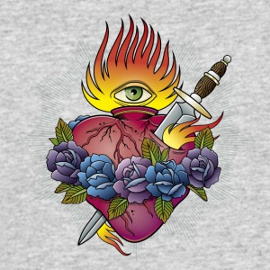 Flaming Heart - Men's 50/50 T-Shirt