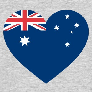 Australia Flag Love Heart Patriotic Pride Symbol - Men's 50/50 T-Shirt