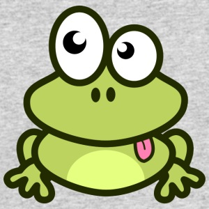 Funny green Frog with eyes - Men's 50/50 T-Shirt