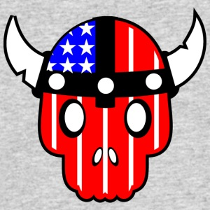 USA SKULL - Men's 50/50 T-Shirt