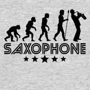 Retro Saxophone Evolution - Men's 50/50 T-Shirt