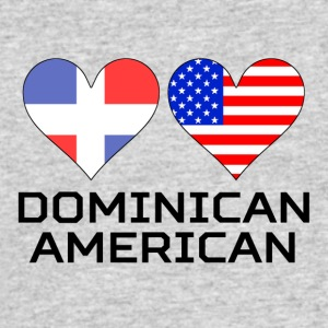 Dominican American Hearts - Men's 50/50 T-Shirt