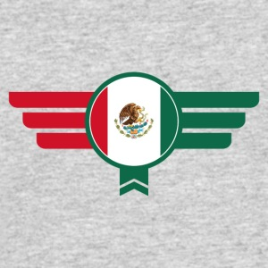 Mexico Badge Emblem Flag - Men's 50/50 T-Shirt