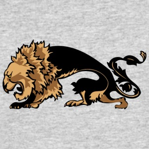thin_scary_lion - Men's 50/50 T-Shirt