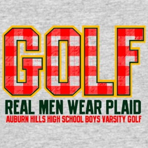 Golf Real Men Wear Plaid Auburn Hills High School - Men's 50/50 T-Shirt
