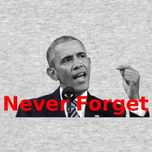 Obama Never Forget - Men's 50/50 T-Shirt