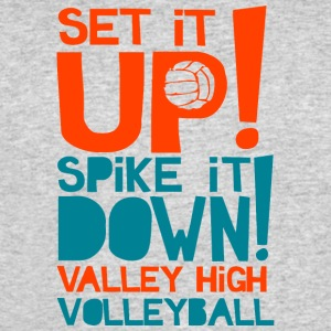 SET IT UP SPIKE IT DOWN VALLEY HIGH VOLLEYBALL - Men's 50/50 T-Shirt