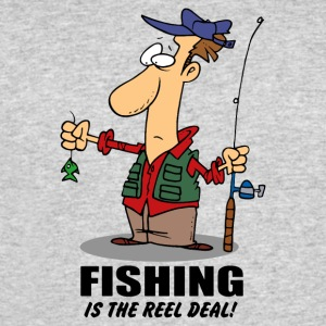 FISHING IS THE REEL DEAL - Men's 50/50 T-Shirt