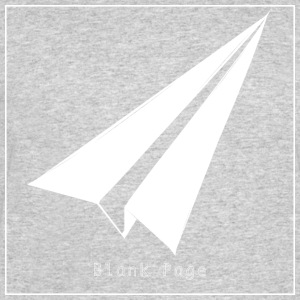 Blank Page Paper Airplane - Men's 50/50 T-Shirt