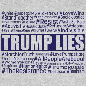 Trump Lies Resistance - Men's 50/50 T-Shirt