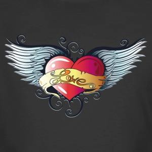 Big heart with wings, Tattoo Style. - Men's 50/50 T-Shirt