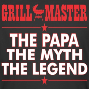 Grillmaster The Papa The Myth The Legend BBQ - Men's 50/50 T-Shirt