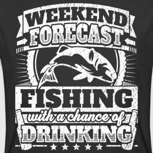 Weekend Forecast Fishing Drinking Tee - Men's 50/50 T-Shirt