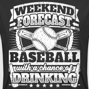 Weekend Forecast Baseball Drinking Tee - Men's 50/50 T-Shirt