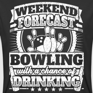 Weekend Forecast Bowling Drinking Tee - Men's 50/50 T-Shirt